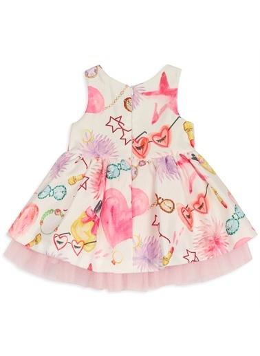 Panço Kız Bebek Elbise 2111GB26007 Pembe